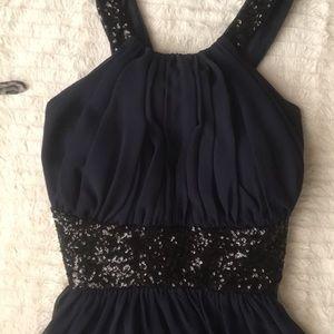 Calvin Klein Open Back Prom Dress